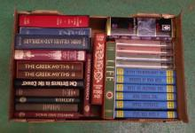Books: Folio Society inc. Gods Graves & Scholars, The Greek Myths I & II, Princes In The Tower, The Celts, Graham Greene, Illustrated English Social History, Tolkein etc. (1 Box)