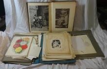 Loose Prints, Etchings & Engravings, some sketches inc. Ullswater, Dutch Bridge etc. (3 Folders)