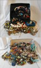 Costume Jewellery, ropes of beads, bangles, earrings & necklaces