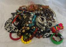 Costume Jewellery inc. ropes of beads, bangles & necklaces