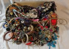 Costume Jewellery inc. ropes of beads, necklaces, earrings etc.