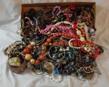 Costume Jewellery inc. ropes of beads, bangles, necklaces etc. (2 Boxes)
