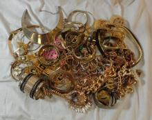 Gold Tone Costume Jewellery inc. bangles, chains & necklaces