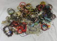 Costume Jewellery inc. ropes of beads, bangles, earrings & necklaces