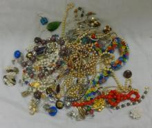Vintage Style Costume Jewellery inc. faux pearl necklaces, clip-on earrings, diamante set etc.