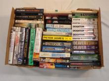 Books: Peter James, Dick Francis, Peter Robinson, Bill Hicks etc. (1 Box)