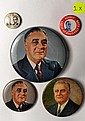 5 Vintage FDR Buttons