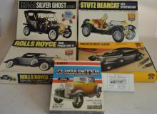Three 1/24 Scale Unassembled Model Cars In OB