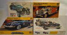 Four 1/24 Scale Unassembled Model Cars In OB