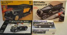 Grouping Of 1/24 Scale Unassembled Model Cars