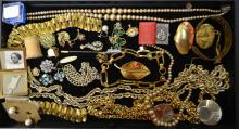 Assorted Tray Of Costume Jewelry