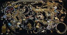 Tray Lot Of Vintage Costume Jewelry