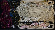Assorted Grouping Of Vintage Costume Jewelry