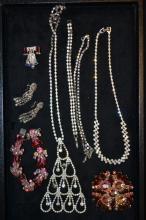 Lot Of Rhinestone Costume Jewelry