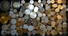 Large Collection Of Foreign Coins (Some Silver)