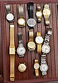 Lot of mens and ladies wrist watches.