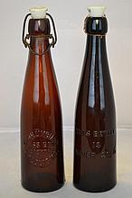 Two Columbia Weiss Beer Bottles