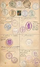 Siegelmarken.  Sammlung von über 2500 mont. Siegelmarken holländischer Land- u. Stadtgemeinden.