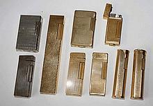 Dunhill, Dupont, Bugatti,  Bentley u. weitere. Sammlung von 25 Feuerzeugen. Davon 7 x Dunhill ve
