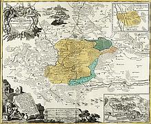 Atlas  von Deutschland (Drucktitel) Sammelatlas. Nürnberg, ca. 1730-80,