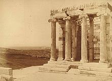 Boissonnas, Frédéric  (1858 Genf 1946). Griechischer Tempel. Silbergela