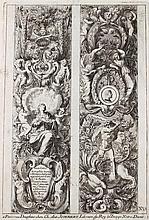 Le Pautre, Jean  (1618 Paris 1682). Ornamente. 24 (davon 6 dplblgr.) nu