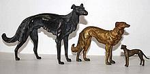 Windhunde Wiener Bronze um 1900.