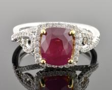 UNTREATED Ruby & Diamond Ring (GIA CERTIFIED)