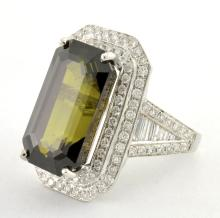 Alexandrite & Diamond Ring *EXCELLENT COLOR CHANGE* (GIA CERTIFIED)
