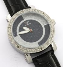 Diamond King White & Gray Watch