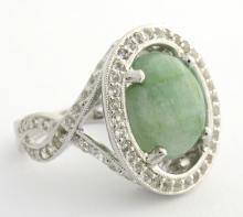 Emerald/Beryl & Topaz Ring