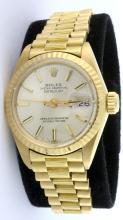 Rolex 18K Oyster Perp. DateJust Ladies Wristwatch