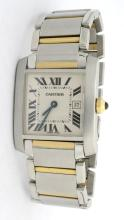 Cartier Midsize Tank Two Tone Stainless Steel Watch