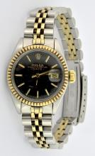 Rolex Date Two Tone Ladies Watch