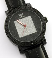 Diamond King Gray Square Watch