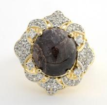 Star Ruby & White Sapphire Ring