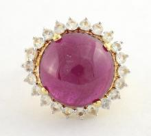 Ruby & Topaz Ring