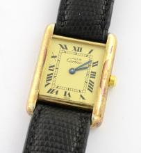 Cartier Vermeil Tank Watch