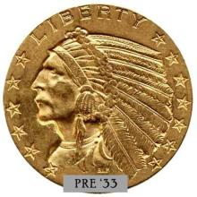 $5 Gold Indian Head Coin