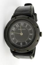Tiffany & Co. Black Stainless Steel Wristwatch