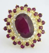 Ruby & Diamond Ring Appraised Value: $4,800