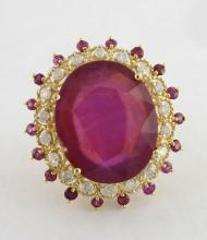 Ruby & Diamond Ring Appraised Value: $19,991