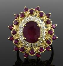 Ruby & Diamond Ring Appraised Value: $4,660