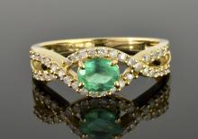 Emerald & Diamond Ring Appraised Value: $1,680