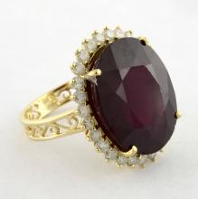 Ruby & Diamond Ring Appraised Value: $7,335