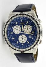 Breitling Navitimer Jupiter Pilot Mens Watch *Replaced strap, faded color on bezel, and some scratches on the glass*