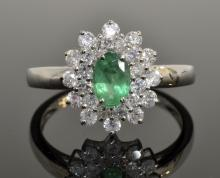 Emerald & Diamond Ring Appraised Value: $3,658
