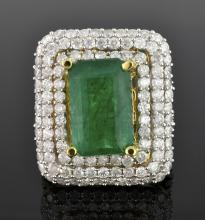 Emerald & Diamond Ring Appraised Value: $13,140