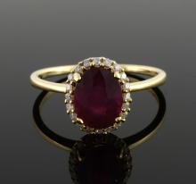 Ruby & Diamond Ring Appraised Value: $2,348