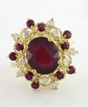 Ruby & Diamond Ring Appraised Value: $2,890